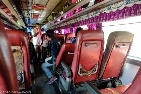 Busfahrt in Kambodscha
