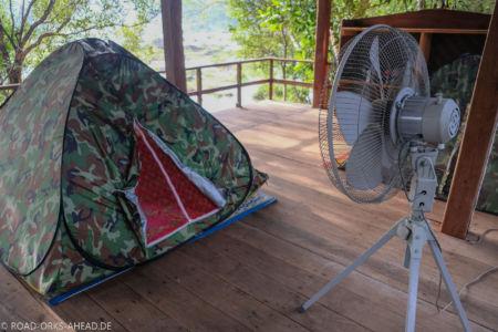 Unsere Unterkunft - Luxuszelt mit Ventilator