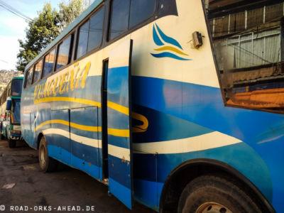 Unser Bus, nicht das neuste Modell
